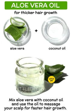 DIY ALOE VERA OIL for faster and thicker hair growth - LITTLE DIY Aloe vera oil has great hair benefits. It can nourish hair follicles, deep condition, make hair shiny and also promote faster hair growth. Aloe vera oil can help maintain the… Grow Long Hair, Grow Hair, Beauty Hacks For Teens, Aloe Vera For Hair, Aloe Vera Gel For Hair Growth, Aloe Vera Hair Mask, Diy Hair Care, Hair Growth Treatment, Hair Growth Tips
