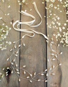 bridal hair vine wedding accesories crystal by JoannaReedBridal #WeddingCrowns