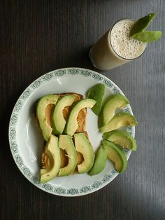 Never skip breakfast! Homemade whole wheat bread <3 peanut butter (no sugar, no salt) <3 avocado <3 buttermilk <3