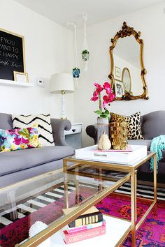 DIY Nesting Coffee Tables – Ikea Hack  This living room