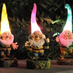 Give your garden personality with Solar Garden Ornaments. Solar lights for decking, patios and borders, sleek & stylish or cute & quirky. Buy The Glow Company Funny Garden Gnomes, Gnome Garden, Lawn And Garden, Fairies Garden, Garden Fun, Gnome Statues, Garden Statues, Garden Sculptures, Garden Accent Lighting