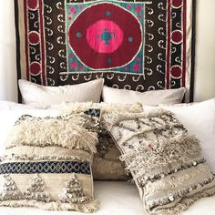 Moroccan Handira cushion covers. $150 ea