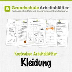 Kostenlose Arbeitsblätter und Unterrichtsmaterial für den Sachunterricht zum Thema Kleidung in der Grundschule.