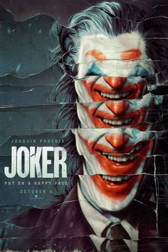 Joker 2019 Movie Poster Put A Happy Face DC Comics Joaquin image 1 Joker Poster, Movie Poster Art, Poster Design Movie, Fan Poster, Best Movie Posters, Poster Designs, Joaquin Phoenix, Design Blog, Web Design