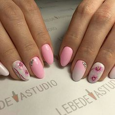 This is a very nice Trendy Nail Arts Design in nude or pastel colors with rhinestone or diamond or glitters , It gives sophisticated and luxurious looks in your nails. Its just enough glitz to have a stylish yet not overbearing nail art design. Gold Gel Nails, Almond Acrylic Nails, Gel Manicure, Cute Nail Art Designs, Beautiful Nail Designs, Trendy Nail Art, New Nail Art, Spring Nails, Summer Nails