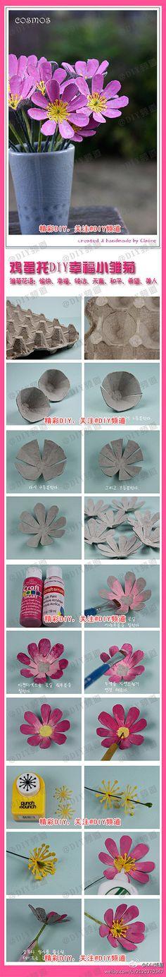 Premium Kumaş Kağıt el yapımı DIY Öğretici papatyalar