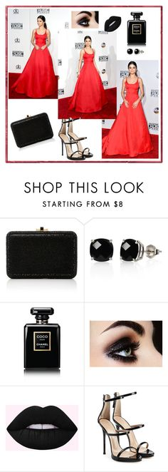 """""""Red is right chose"""" by vehabovicka ❤ liked on Polyvore featuring Judith Leiber, Belk & Co., Chanel and Giuseppe Zanotti"""