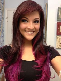 magenta ombre hair