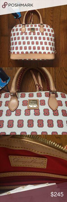 Authentic Dooney & Bourke NC State Zip Zip Satchel
