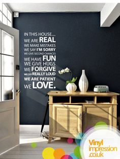In this House Vinyl Wall Sticker Life Size by Vinylimpression, £29.99