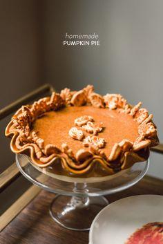 Pumpkin Pie 15 Fall Recipes - Style Me Pretty Living Homemade Pumpkin Pie, Pumpkin Recipes, Pumpkin Spice, Pumpkin Pumpkin, Pumpkin Mousse, Pumpkin Cookies, Canned Pumpkin, Pumpkin Bread, Pumpkin Crisp