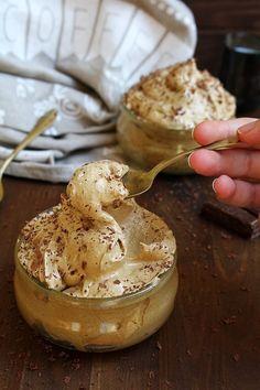 Crema fredda al caffè senza panna e latte
