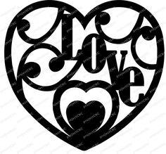 heart decoration love CNC Cut file Laser DXF CAD drawing Cnc Plasma, Plasma Cutting, Cad Drawing, Cutting Files, Die Cutting, Heart Decorations, Scroll Saw, Cnc Router, Graphic