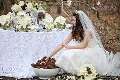 White flowers for wedding