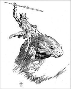 Pellucidar and Other Worlds Art of Edgar Rice Burroughs frazetta