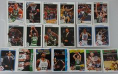 1991-92 Hoops Boston Celtics Team Set Of 19 Basketball Cards #BostonCeltics