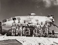 This B-29 made it back from a mission over Japan with only two good engines on the left side. Cannon fire disabled two engines on the right side, causing one of the propellers to spin off and slash a hole in the fuselage. The crew was still able to fly the crippled plane fifteen hundred miles back to Saipan at about five hundred feet above the ocean. Seventeen hours after they had taken off, they slammed down on the runway at Isley Field. The crew survuved.