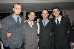 O meu filho Edgard Ájax, o meu sobrinho Luiz(Agora casado com a Bruna Abrahão) Fernando Pucci, eu e o meu filho Alex PUCCI. Casamento na Igreja Siriam Ortodoxa Santa Maria em São Paulo.