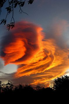 Amazing Cloud Formation -- photo: Maria Luisa yes it is ☺ All Nature, Science And Nature, Amazing Nature, Beautiful Sunset, Beautiful World, Beautiful Beaches, Formation Photo, Lenticular Clouds, Sky And Clouds