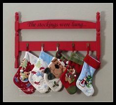 the stockings were hung headboard