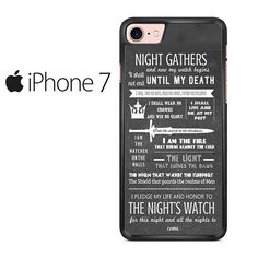 Game Of Thrones The Night's Watch Quote Iphone 7 Case