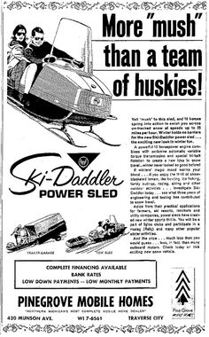 """Obtain wonderful ideas on """"tow my snowmobile"""". They are actually readily available for you on our web site. Vintage Sled, Vintage Ads, Snow Machine, Retro Advertising, Lake George, Winter Fun, A Team, Snowmobiles, Law School"""
