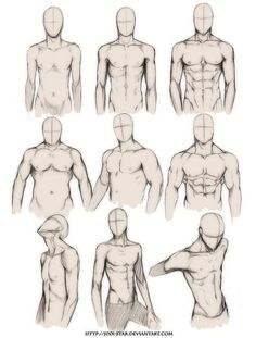 How to draw the human body study male body types comic manga character refe Drawing Body Poses, Body Reference Drawing, Guy Drawing, Art Reference Poses, Drawing People, Drawing Tips, Anatomy Reference, Drawing Men Face, Human Body Drawing