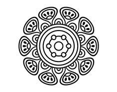 Adult Coloring, Coloring Books, Lino Art, Mandala Coloring Pages, Mandala Pattern, Art Pages, Doodle Art, Painted Rocks, Simple Designs