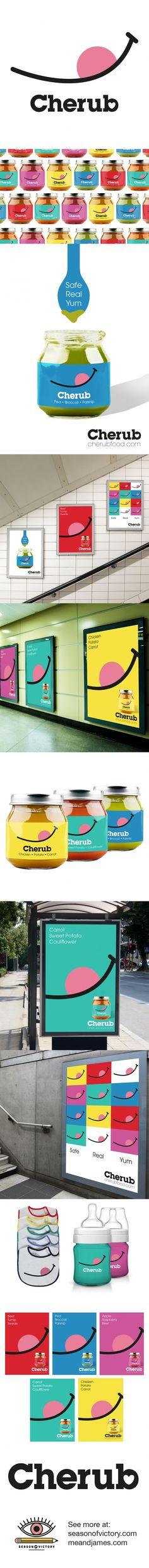 Cherub Baby Food - Packaging, Branding, Advertisment & Logo. Working with meandjames.com, we created the logo, branding, packaging design and advertisment campaign for the brand. #logo #design #graphicdesign #artdirection #packaging #foodpackaging #colorfulpackaging #babyfood #babyfoodpackaging #logodesign #advertising #ad #addesign #poster #posterdesign #branding #artdirector #graphicdesigner #behance #portfolio