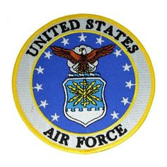 Shop US Air Force Extra Small Round Embroidered Patch - Overstock - 9488788 Air Force Patches, Strategic Air Command, Army Surplus, Us Air Force, United States Navy, Arts And Crafts Supplies, Funny Art, Iron On Patches, Armed Forces