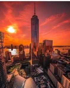 New York at sunrise.