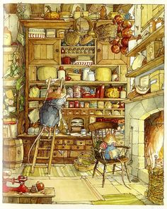 This reminds me of childhood. I would spend hours and hours pouring over these pictures, wishing I could live in these little cozy worlds. The Complete Brambly Hedge