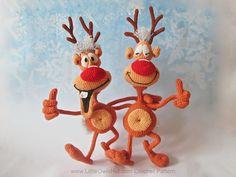 Ravelry: 035 Reindeer Rudolf toy Ravelry pattern by LittleOwlsHut