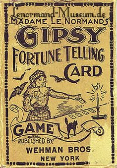 American Version of Lenormand Fortune Telling Cards was made about 1900.