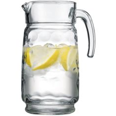 Palais Glassware Cercle Collection; High Quality Clear Glass Set with Circle Design (64 Oz Pitcher,