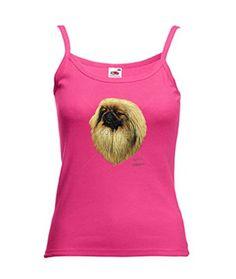 Simplement Tés Pékinois par Robert peut Femme Sangle T-shirt pour homme -  Rose - XXX-Large
