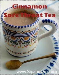 How to Make Cinnamon Sore Throat TeaRecipe for Cinnamon Sore Throat Tea 1 cup mi. How to Make Cinnamon Sore Throat TeaRecipe for Cinnamon Sore Throat Tea 1 cup milk (I use almond, coconut or rice mi Sore Throat Tea, Sore Throat Remedies, Cold Remedies, Herbal Remedies, Health Remedies, Drink For Sore Throat, Allergy Remedies, Natural Cures, Health And Wellness