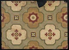 printed linoleum found in Australia Retro Home Decor, Museum Collection, Retro Vintage, Victorian, Flooring, Rugs, Antiques, Prints, Kitchen Ideas