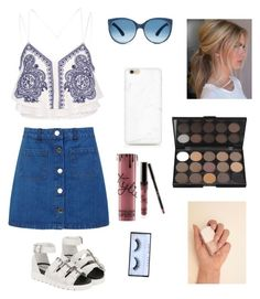 """Casual navy"" by arutila on Polyvore featuring River Island, Miss Selfridge and Huda Beauty"