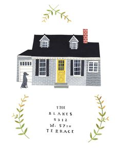 Rebekka Seale house portraits, her work is so charming and how fun to have a house portrait.