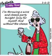 Wine and cheese party. Maxine cartoon