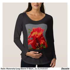 Style: Maternity Long Sleeve T-Shirt This relaxed