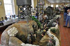 GI Joe war diorama foxhole at 2011 show