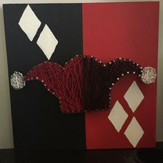 Harley Quinn string art! Contact me if you would like one