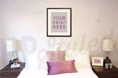 Styled Photograph Bedroom Wall Art  8x10 or 16x20 by UpStyledShop