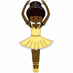 Pretty Little Cartoon Ballerina Girl in Yellow Photo Sculptures ...