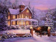 Orámovaný vánoční obrázek