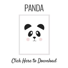 Nalle's House: Free Printable Panda Art and the Easiest Way to Frame Art
