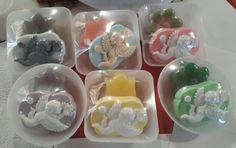 Melt and Pour Angel soaps packages