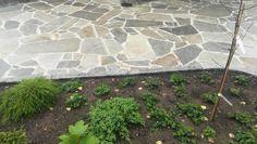Kimmeli Kupari liuskekiven asennus kiinteällä saumausaineella. Viherrakennustyöt ja kivet KiviHerttua, Espoo